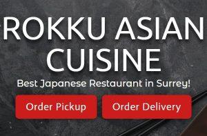 Rokku Asian Cuisine Surrey BC